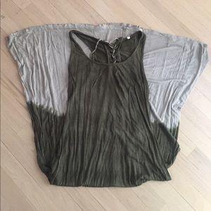 Ombré Olive Green/Cream Maxi Dress