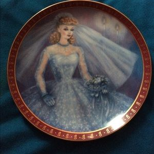 Barbie Other - 1959 Barbie Bride-To-Be plate