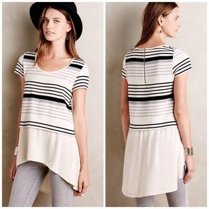 Anthropologie Tops - Anthropologie Deletta Striped Layer High Low Top