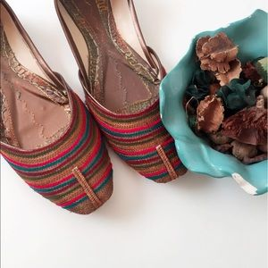Shoes - #A80 Handcrafted Indian Pakistani Multicolor Pumps