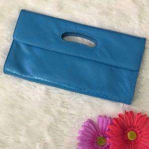 HOBO Handbags - Hobo Bright Blue Patent Leather Clutch EUC