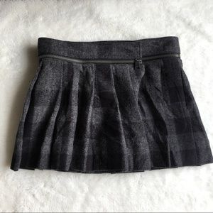 Burberry Dresses & Skirts - Burberry Check Charcoal Gray Wool Skirt size 10