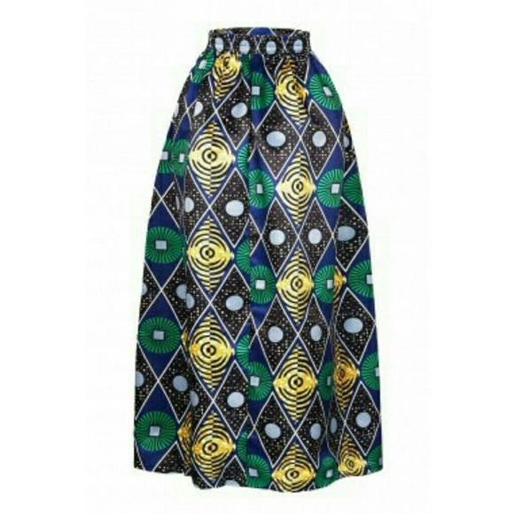 68de33ebcc7d Skirts | African Print Ankara Dashiki Maxi Skirt | Poshmark