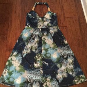 Dresses - NWOT Women's Halter Green & Blue Sundress