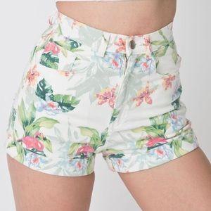 American Apparel - Flamingo High Waist Shorts