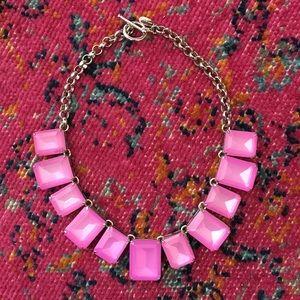 NEW Ann Taylor Pink Burst Necklace