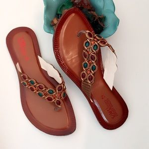 Beautiful Brown Embellished Flats