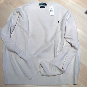 Polo by Ralph Lauren Other - NWT Polo Ralph Lauren Classic Cream V Neck Sweater