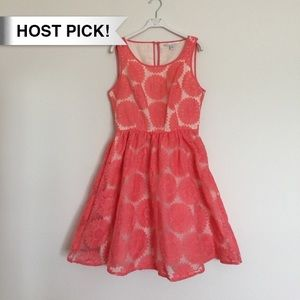 LC Lauren Conrad Dresses & Skirts - *HP!* Lauren Conrad coral pink floral sun dress 6