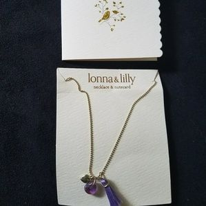 lonna & lilly Jewelry - Lonna & Lilly necklace and notecard