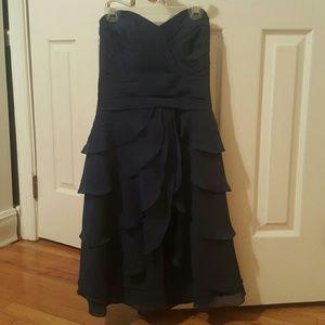 Navy blue bridesmaid dress. Worn once.