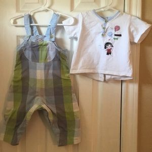 Catimini Other - Lovely baby boy catimini overall set