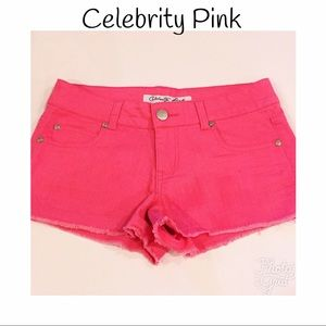 Celebrity Pink Pants - CELEBRITY denim shorts!