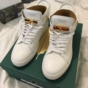 Buscemi Other - Buscemi white and gold sneakers size 43