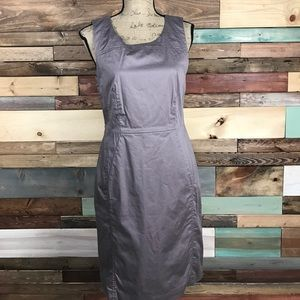 Loft Mauve Twill Classic Sheath Dress 10
