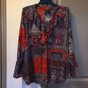 new directions Tops - New Directions Boho Style Large Blouse