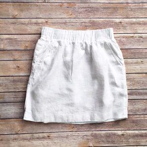 LOFT Dresses & Skirts - Loft white linen mini skirt