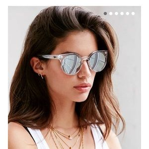 Quay Kosha Clear Frame Mirrored Sunglasses