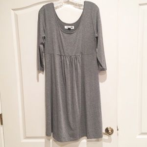 Dresses & Skirts - Grey Babydoll 3/4 sleeve maternity dress