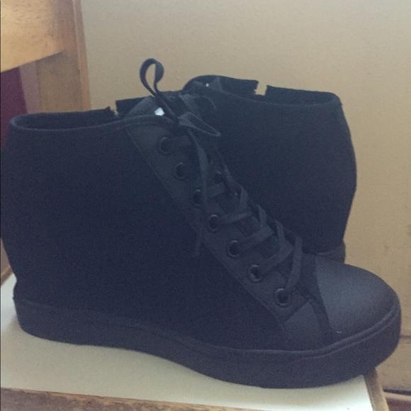 b24b8a07287e DKNY Shoes - DKNY -Cindy Wedge Sneakers