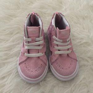 855d0caf0355f6 Vans Shoes - Toddler metallic heart SK8-HI Vans. Infant Vans.