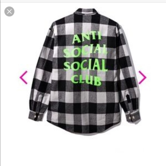 4aa76b789531 Anti Social Social Club Flannel Shirt