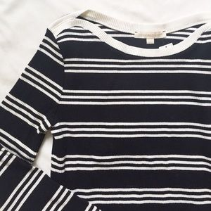 ANTHROPOLOGIE black and white striped top