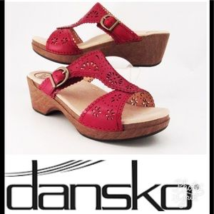 Dansko Shoes - Dansko Red floral cut out Sandals
