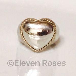 Tiffany & Co. Jewelry - Tiffany & Co Sterling 18k Milgrain Heart Dome Ring