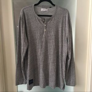 Five Four Other - Grey Long Sleeve Five Four Henley Shirt