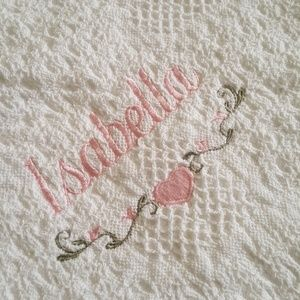 Other - Beautiful white Afghan blankie for baby's crib