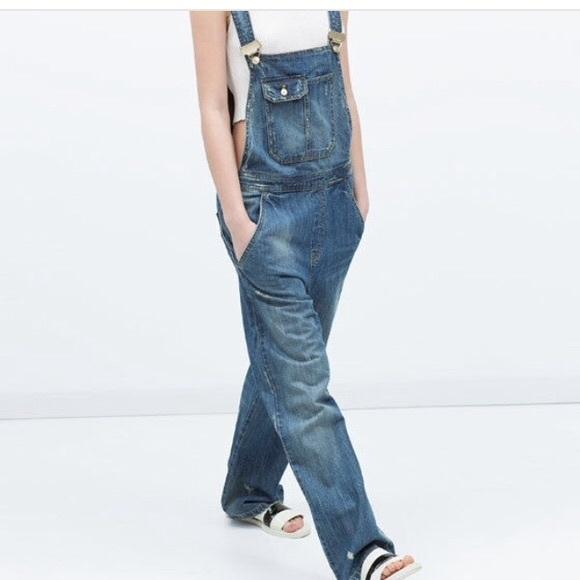 921952af8a03 NWT Zara TRF trafuluc vintage denim overalls. M 591a3eaefbf6f9e0ec0210f2
