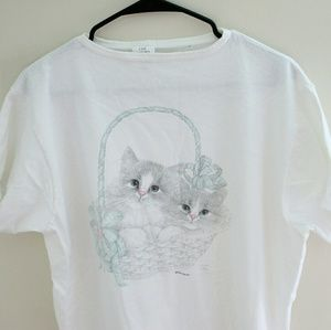 Vintage oversized kitten t-shirt
