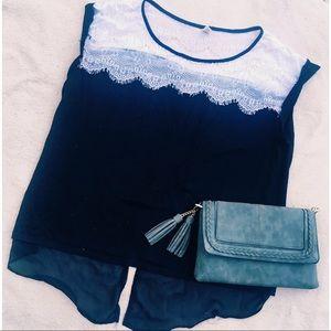 Hybrid Tops - Lace Embellished Tee Shirt✨