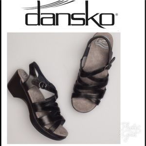 Dansko Shoes - Dansko black patent leather sandals Sz 39