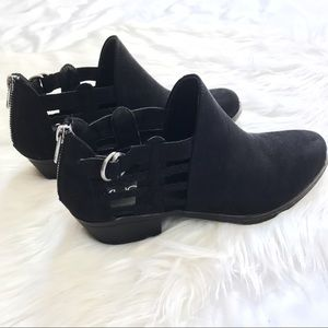 Shoes - NWOT Waffle Cutout Ankle Booties with Zipper