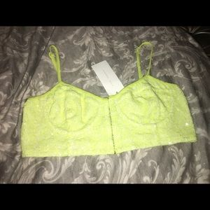 Lush Tops - Women's large neon bustier NWT