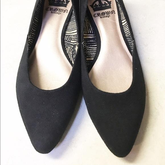 crown vintage shoes flats
