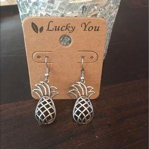 Jewelry - Silver pineapple earrings