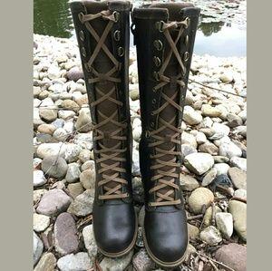 Botas De Agua Carretero Alto Con Cordones De Las Mujeres Timberland yztEpCf