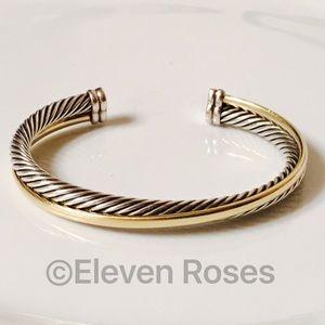 David Yurman Jewelry - David Yurman Sterling 18k Crossover Cuff Bracelet