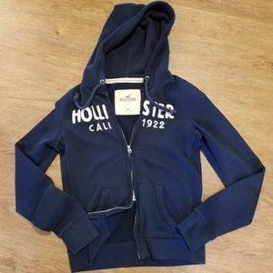 Hollister Jackets & Blazers - Navy Hollister hoodie sweatshirt
