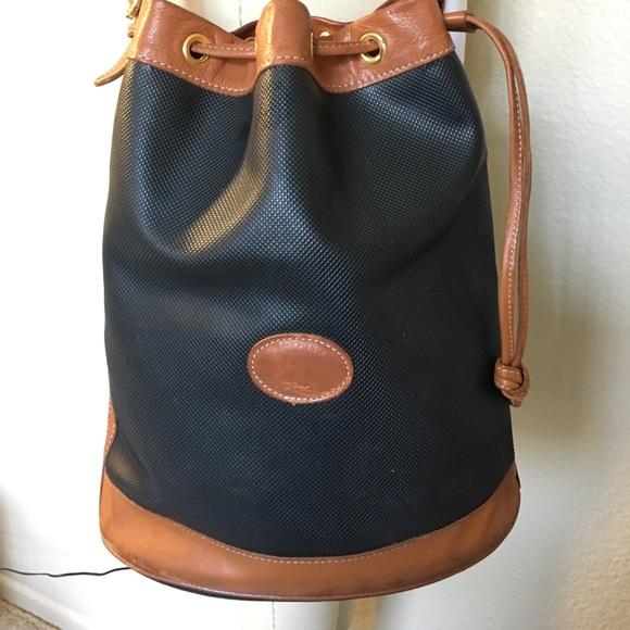 Longchamp Handbags - Vintage Longchamp Drawstring Bucket Purse Bag e84df63505