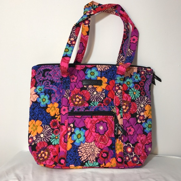 81381e12b8 Vera Bradley Villager Shoulder Bag Floral Fiesta