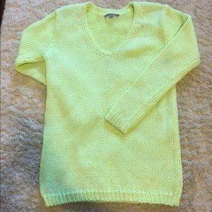 Gap neon yellow/green long sweater.