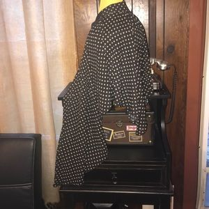 Dresses & Skirts - Asymmetrical chiffon polka dot skirt