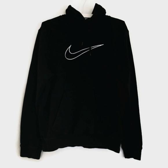 a63e207e299c Nike Black Sweatshirt Hoodie Outline Swoosh. M 59ac831241b4e09b26081706