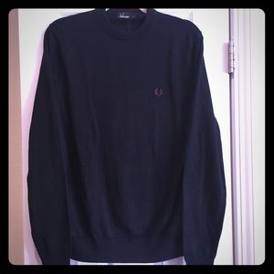Fred Perry Other - NWT Fred Perry Classic Navy Crew Neck Sweater