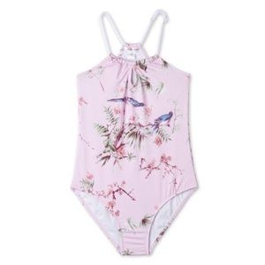 Stella Cove Other - Stella Cove Pink Bird One Piece for Girls