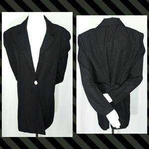 Promises Promises Jackets & Blazers - Vtg Promises Promises Black Red Pinstripe Blazer